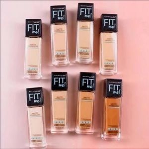 3 pack! Maybelline Fit Me Matte Foundation